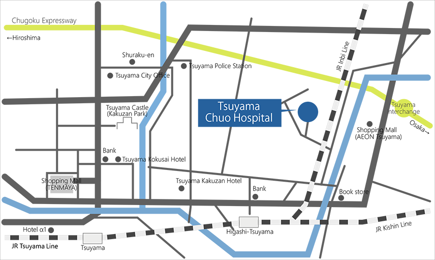 tsuyama chuo hospital map